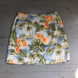 Tommy Bahama Hawaiian Silk Wrap Skirt